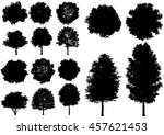 vector trees isolated on a... | Shutterstock .eps vector #457621453