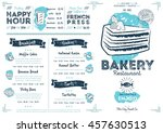 bakery menu design and bakery... | Shutterstock .eps vector #457630513