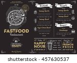fast food menu cover layout... | Shutterstock .eps vector #457630537