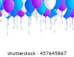 vector seamless border of... | Shutterstock .eps vector #457645867