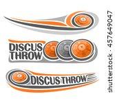 vector logo for athletics... | Shutterstock .eps vector #457649047