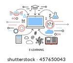 modern flat thin line design... | Shutterstock .eps vector #457650043