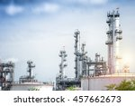 oil and gas refinery plant... | Shutterstock . vector #457662673