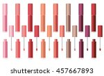 lip gloss in the package.... | Shutterstock .eps vector #457667893