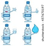 water plastic bottle cartoon... | Shutterstock .eps vector #457670197