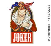 Joker Playing Card Design. Men...