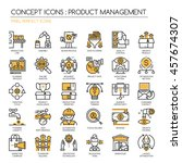 product management   thin line...   Shutterstock .eps vector #457674307