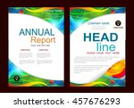 brochure design template vector.... | Shutterstock .eps vector #457676293