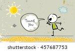 kids thank you card vector... | Shutterstock .eps vector #457687753
