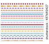 colored line borders | Shutterstock . vector #457692427
