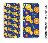 vector fashion phone case.... | Shutterstock .eps vector #457704637