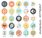 flat conceptual icons set of... | Shutterstock .eps vector #457706347