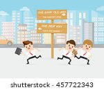 brave business man choose the... | Shutterstock .eps vector #457722343