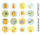 icons apiaries and bee vector... | Shutterstock .eps vector #457726513