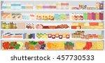 store supermarket shelves... | Shutterstock .eps vector #457730533