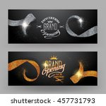 grand opening banners with... | Shutterstock .eps vector #457731793
