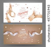 grand opening banners with silk ... | Shutterstock .eps vector #457731943