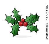 cartoon holly | Shutterstock . vector #457745407
