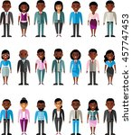 set of vector african american... | Shutterstock .eps vector #457747453