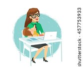 motherhood and business career... | Shutterstock .eps vector #457753933