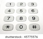 phone number pad buttons | Shutterstock . vector #45775576