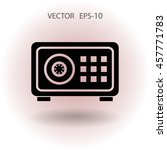 flat icon of safe | Shutterstock .eps vector #457771783