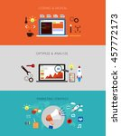 web development flow. banner... | Shutterstock .eps vector #457772173
