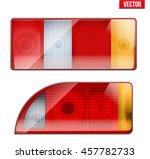 Rectangular Car Taillight. Rea...