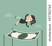 businesswoman falling into a... | Shutterstock .eps vector #457782763
