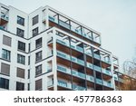 low angle view on modern high...   Shutterstock . vector #457786363
