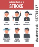 stroke vector infographic