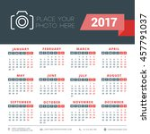 calendar for 2017 year. vector... | Shutterstock .eps vector #457791037