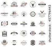 set of vintage retro logotype... | Shutterstock .eps vector #457796443