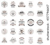 set of vintage retro logotype... | Shutterstock .eps vector #457796647