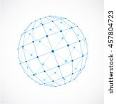 3d low poly spherical object... | Shutterstock . vector #457804723