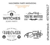 halloween 2016 party invitation ... | Shutterstock .eps vector #457805617