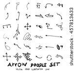 vector hand drawn arrows set | Shutterstock .eps vector #457813633