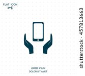 smartphone insurance sign. hand ...