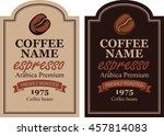 design label for coffee beans... | Shutterstock .eps vector #457814083