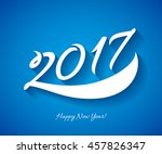 happy new year 2017 background. ... | Shutterstock .eps vector #457826347