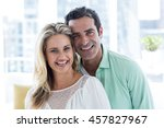 portrait of smiling romantic... | Shutterstock . vector #457827967