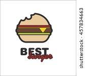 best burgers | Shutterstock .eps vector #457834663