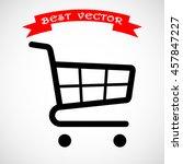 shopping cart sign icon  vector ... | Shutterstock .eps vector #457847227