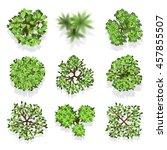 trees top view vector set for...   Shutterstock .eps vector #457855507