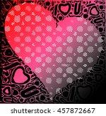 red gradient heart illustration ... | Shutterstock .eps vector #457872667