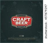 modern professional label logo... | Shutterstock .eps vector #457879297