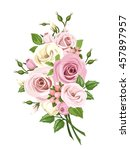 vector bouquet of pink and... | Shutterstock .eps vector #457897957