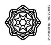 monochrome contour mandala.... | Shutterstock .eps vector #457905553
