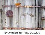wood backgrounds 1. old door... | Shutterstock . vector #457906273