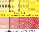 dotted  pop art seamless... | Shutterstock .eps vector #457914283